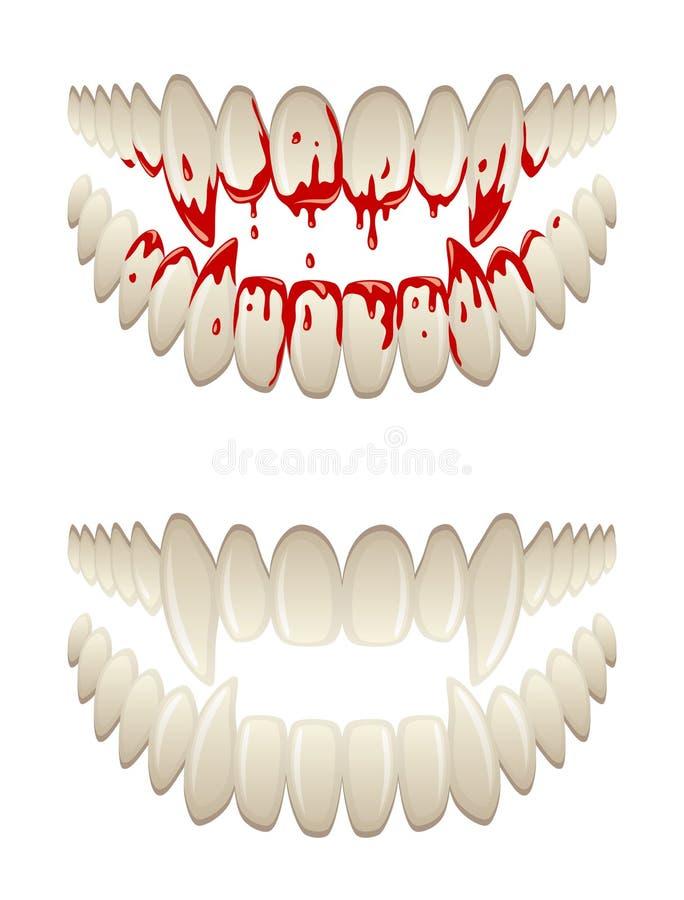 Krwiści zęby ilustracji