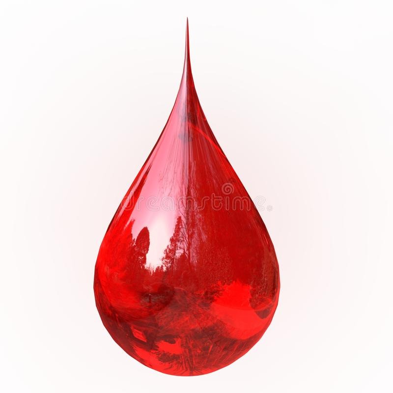 krwi kropla royalty ilustracja