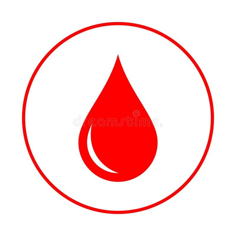 Krwi kropla w okręgu Ofiarodawca logo ilustracja wektor