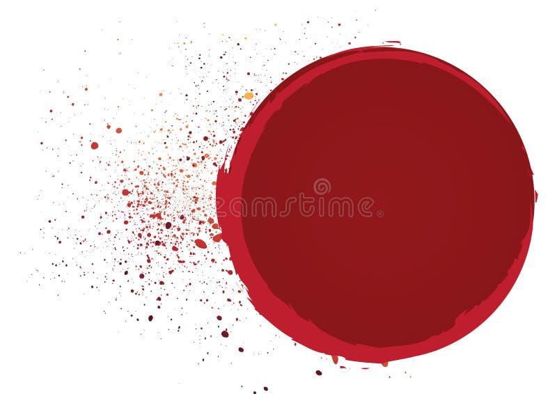 krwi rama ilustracja wektor