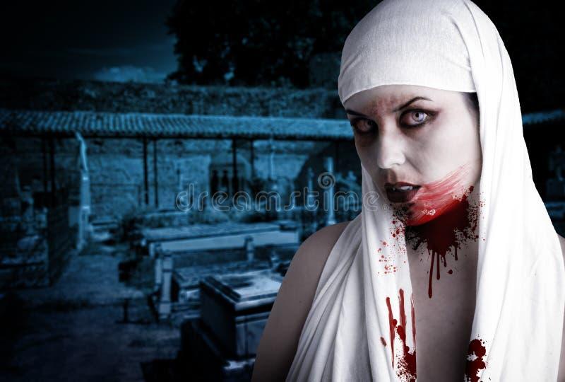 krwionośna kobieta plami wampira obrazy stock