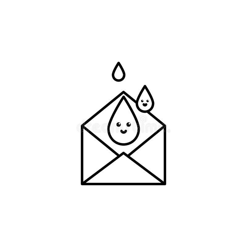 krwionośna kopertowa ikona Element krwionośnej darowizny ikona dla mobilnych pojęcia i sieci apps Cienka kreskowa krwionośna kope ilustracji
