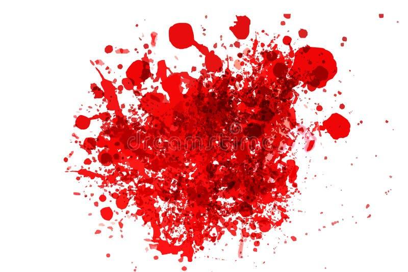Krwionośna pluśnięcie ilustracja na bielu ilustracja wektor
