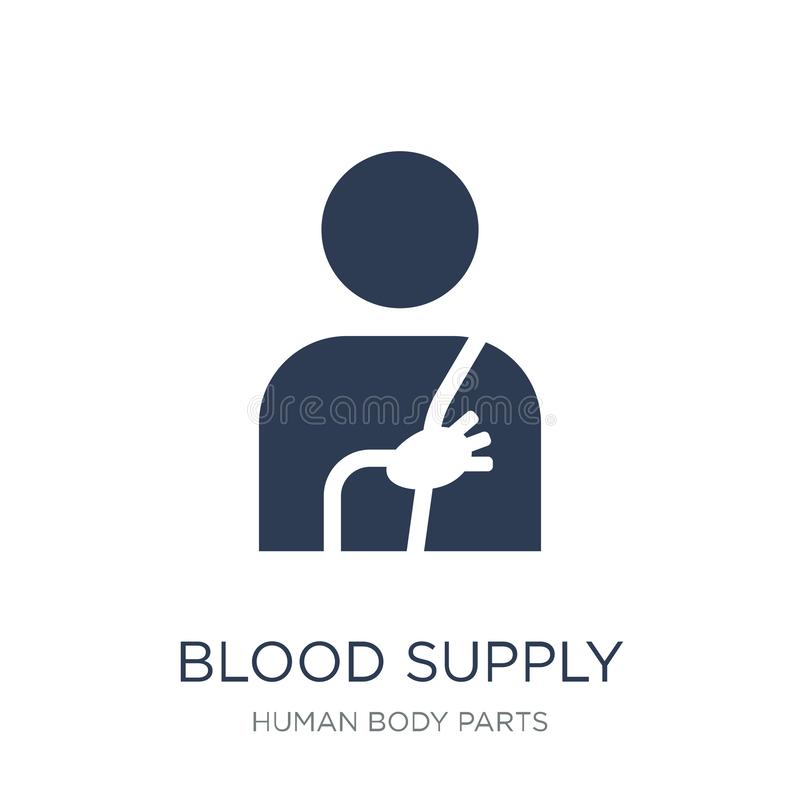 Krwionośna Zaopatrzeniowego systemu ikona Modny płaski wektorowy Krwionośny Zaopatrzeniowy system ilustracji