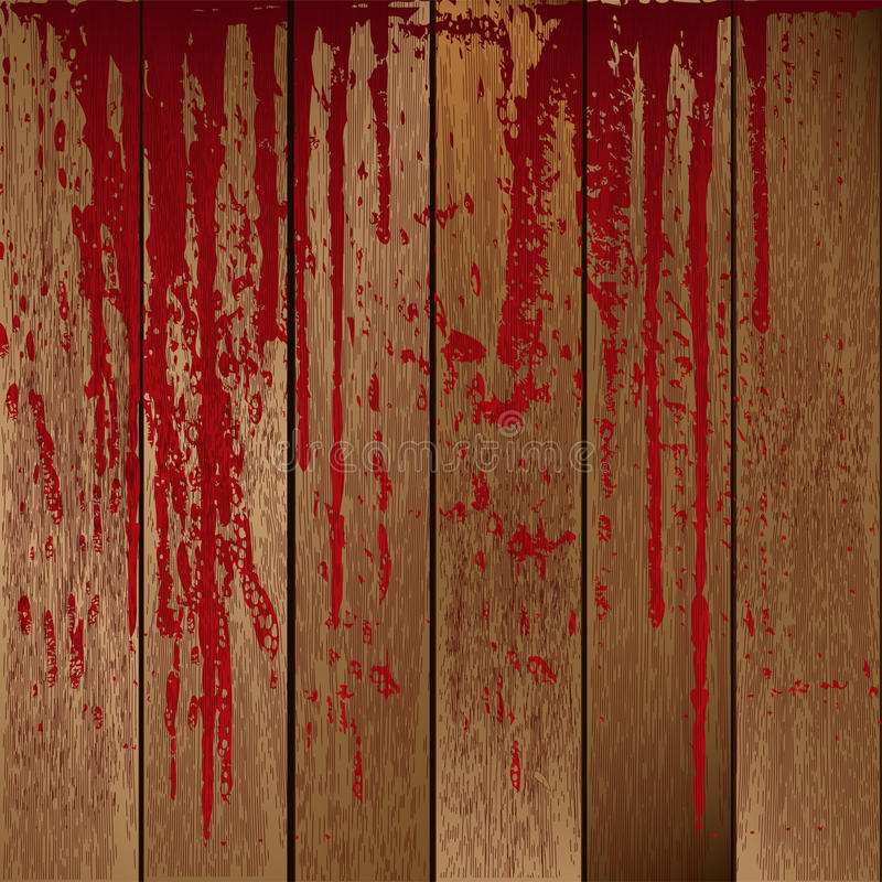krwionośne deski plamili drewnianego ilustracja wektor