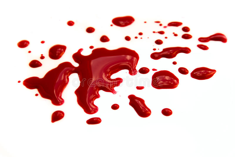 Krwionośne plamy fotografia royalty free