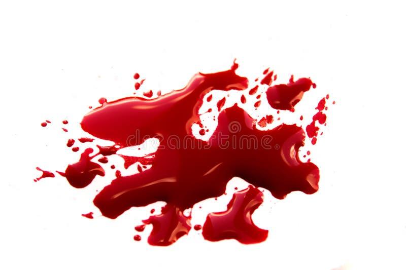 Krwionośne plamy obraz stock