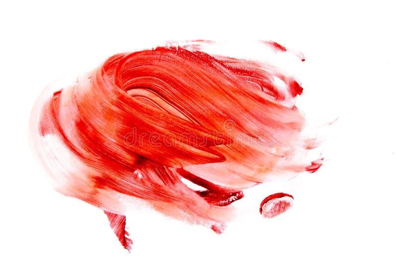 Krwionośne plamy kałuża, rozmaz (,) obrazy royalty free