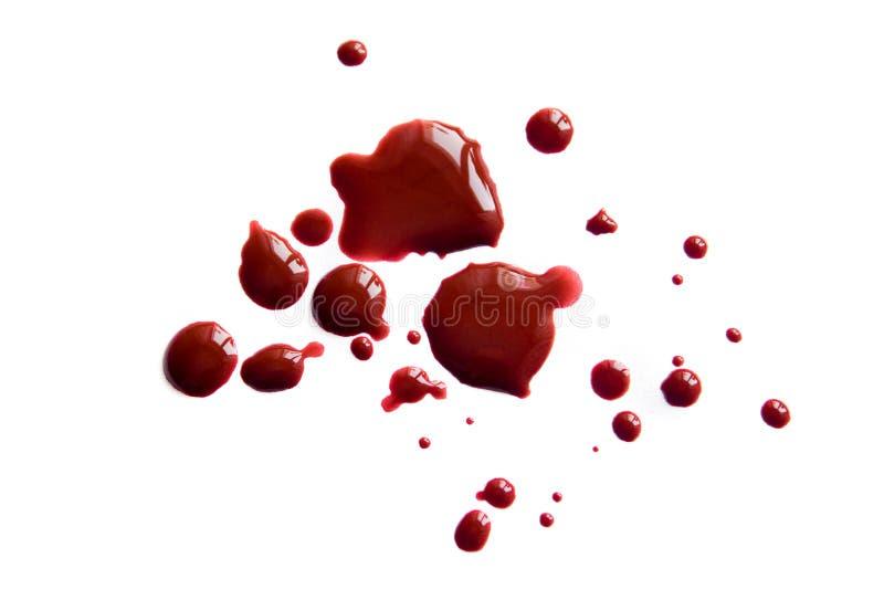 Krwionośne plamy (kropelki) obrazy royalty free
