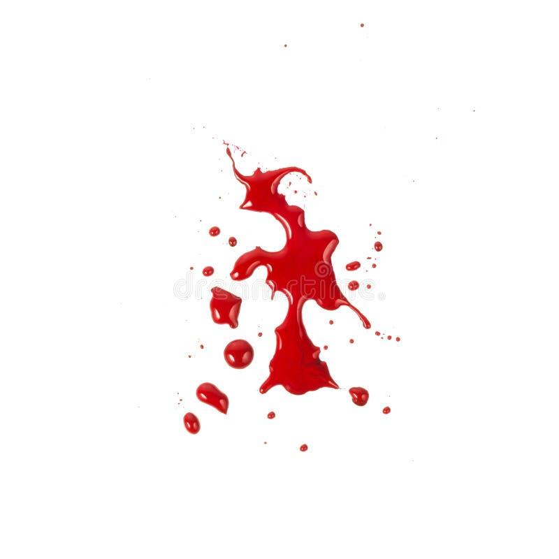 Krwionośne plamy odizolowywać na białym tle
