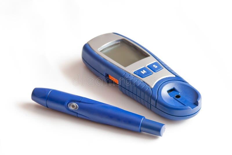 krwionośnej glikozy pozioma test fotografia stock