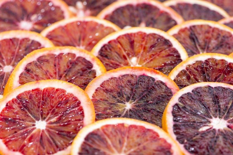 Krwionośnej pomarańcze plasterki obrazy royalty free