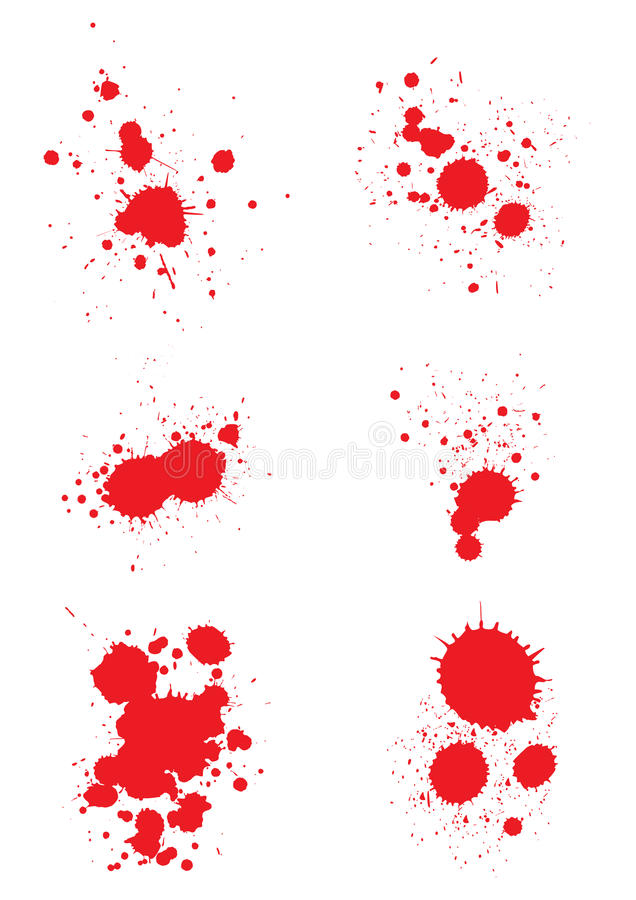 krwionośni splats ilustracja wektor