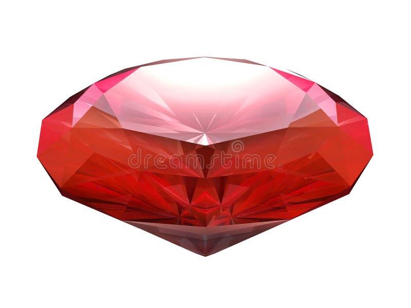 Krwionośny czerwony rubin ilustracja wektor