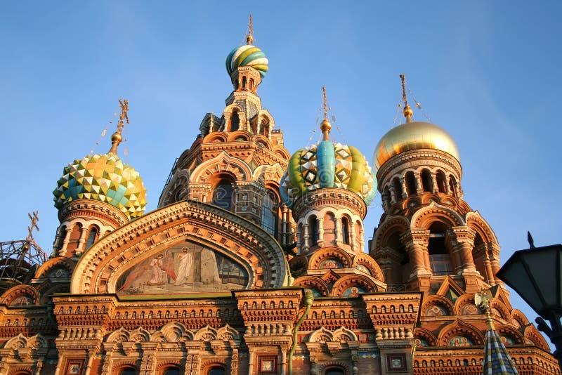 krwionośny kościelny Petersburg rozlewający st obraz stock