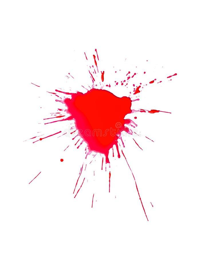Krwionośny pluśnięcie zdjęcie stock