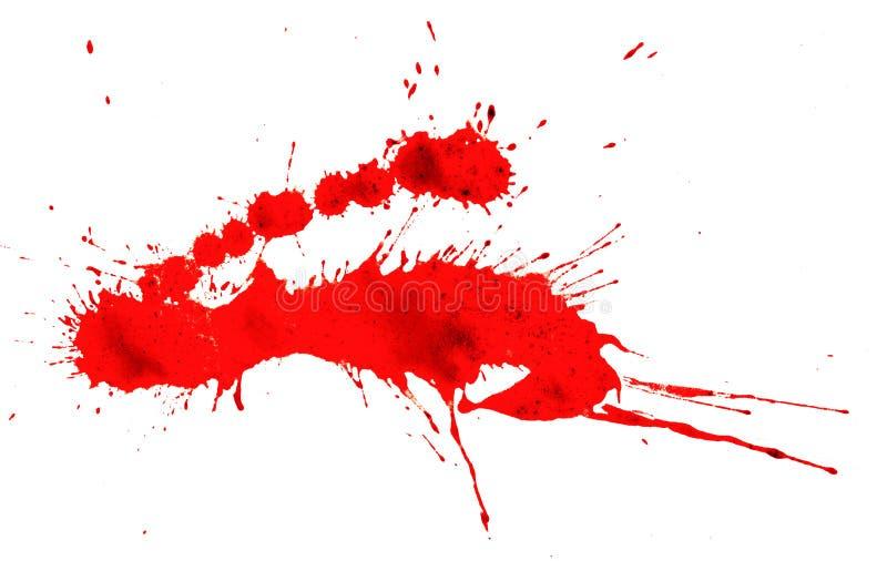 Krwionośny pluśnięcie odizolowywający obrazy stock