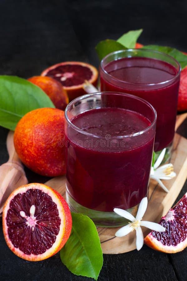 Krwionośny sok pomarańczowy zdjęcie royalty free
