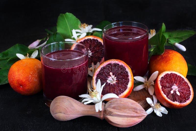 Krwionośny sok pomarańczowy fotografia royalty free