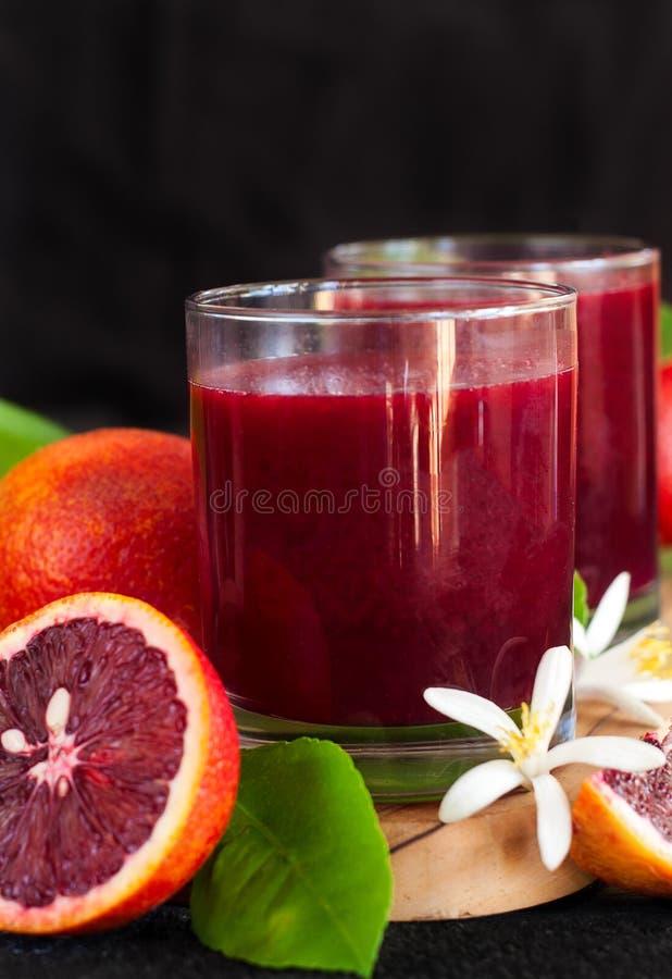 Krwionośny sok pomarańczowy zdjęcia royalty free