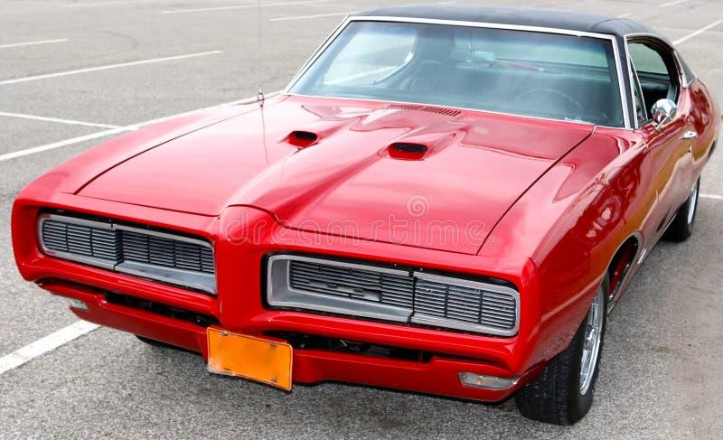 1969 Krwionośnych Czerwonych Klasycznych Pontiac GTO fotografia royalty free