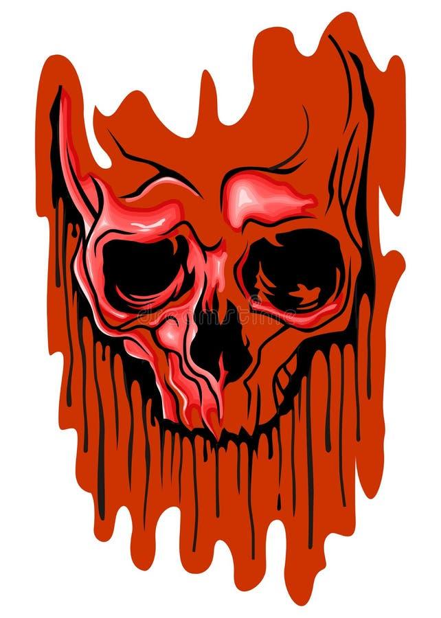 Krwista czaszka ilustracji