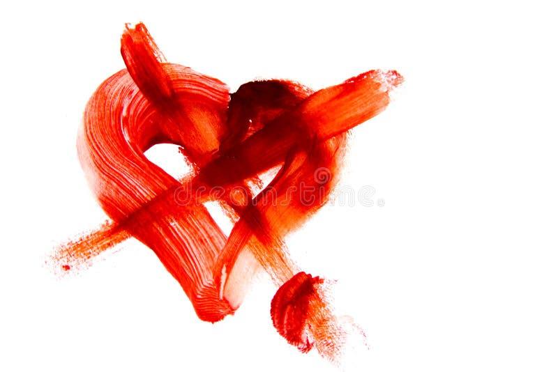 Krwista krzyżująca kierowa kształt plama zdjęcie stock
