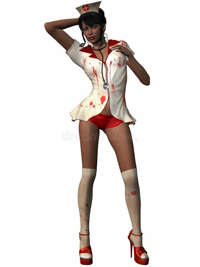 krwista pielęgniarka royalty ilustracja
