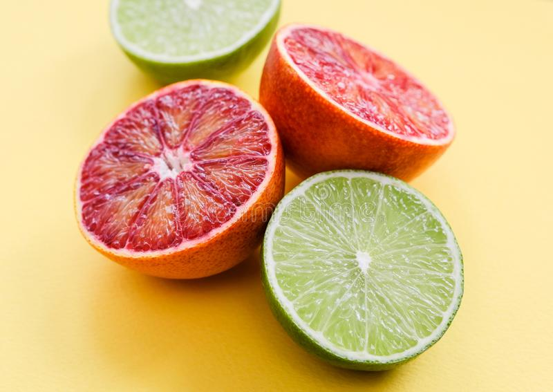 Krwiste pomarańcze i wapno fotografia royalty free