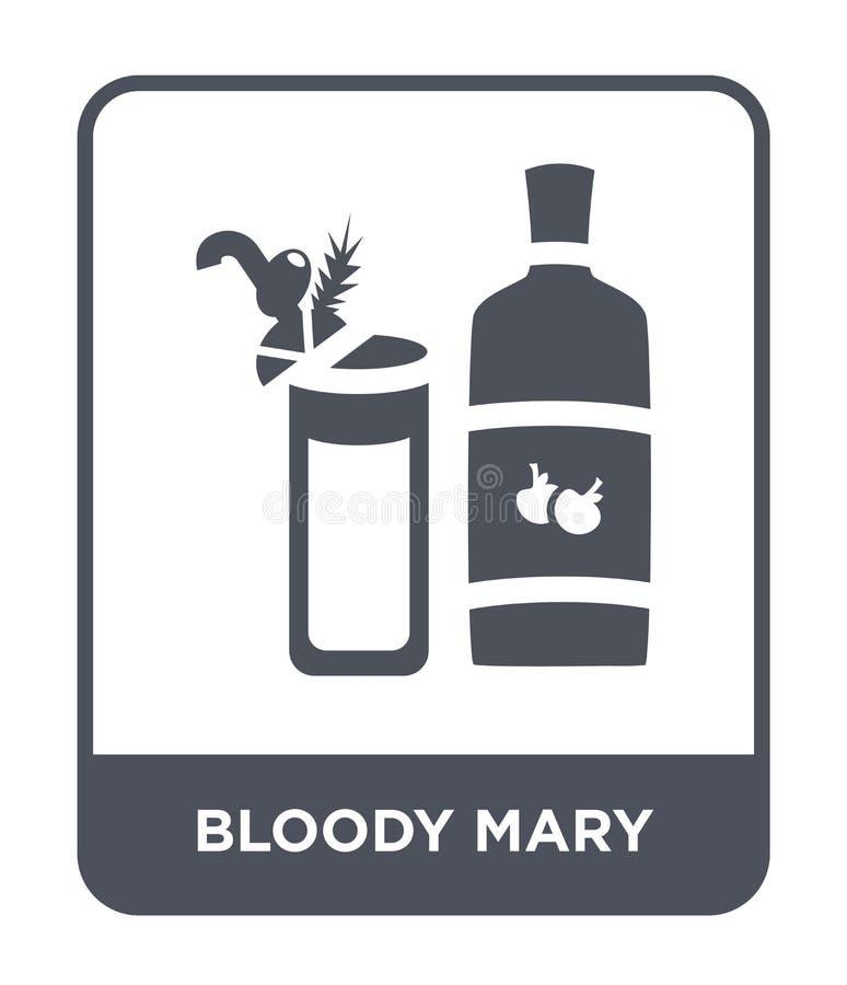 krwistego Mary ikona w modnym projekta stylu krwistego Mary ikona odizolowywająca na białym tle krwista Mary wektorowa ikona pros ilustracja wektor