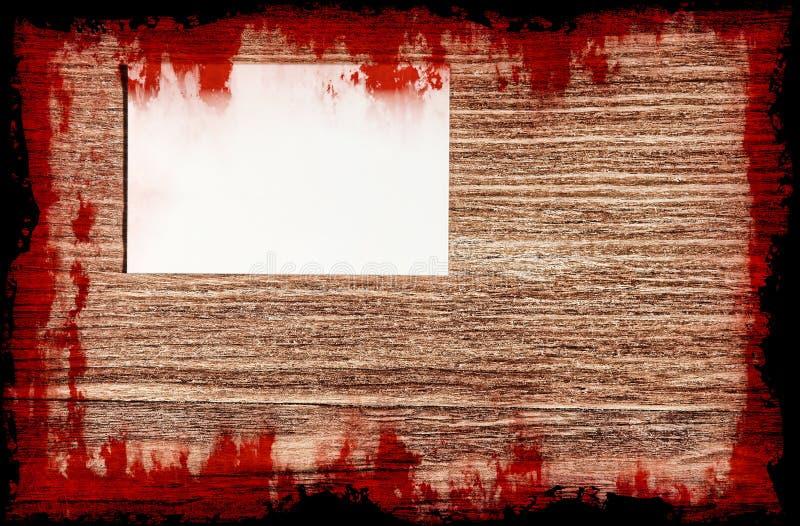 Krwisty list samobójcy na grunge drewnianym tle halloween ilustracji