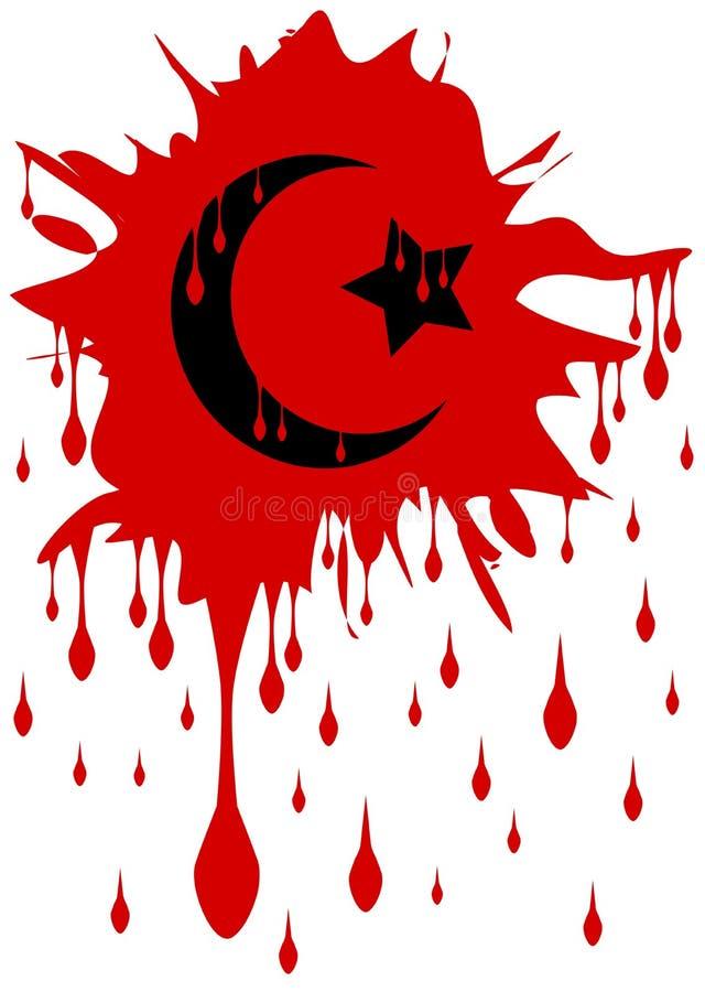 Krwisty symbol odizolowywający islam ilustracja wektor