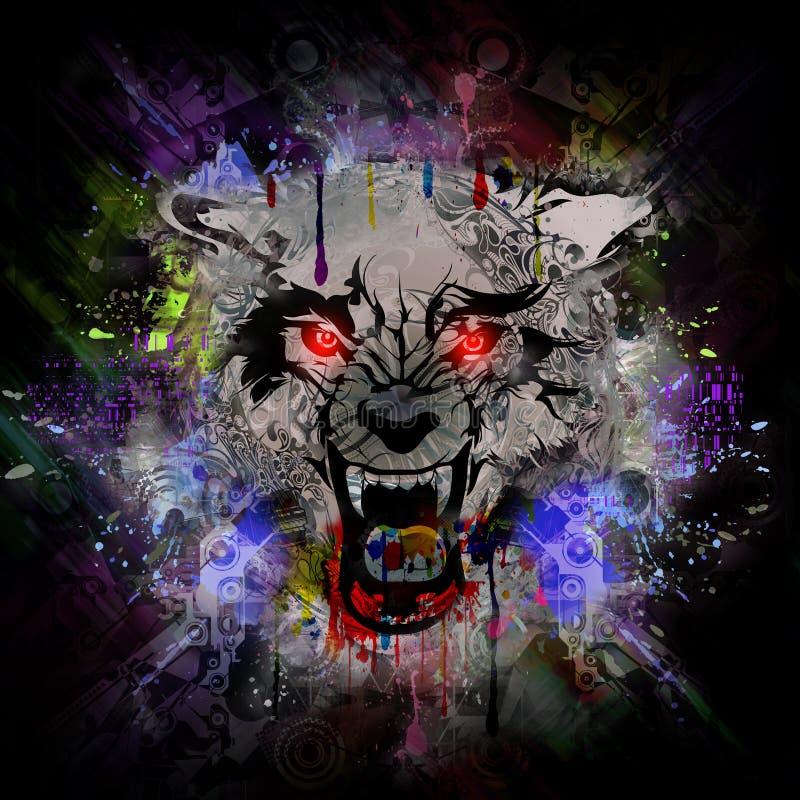 Krwisty wilkołaka abstrakta tło ilustracja wektor