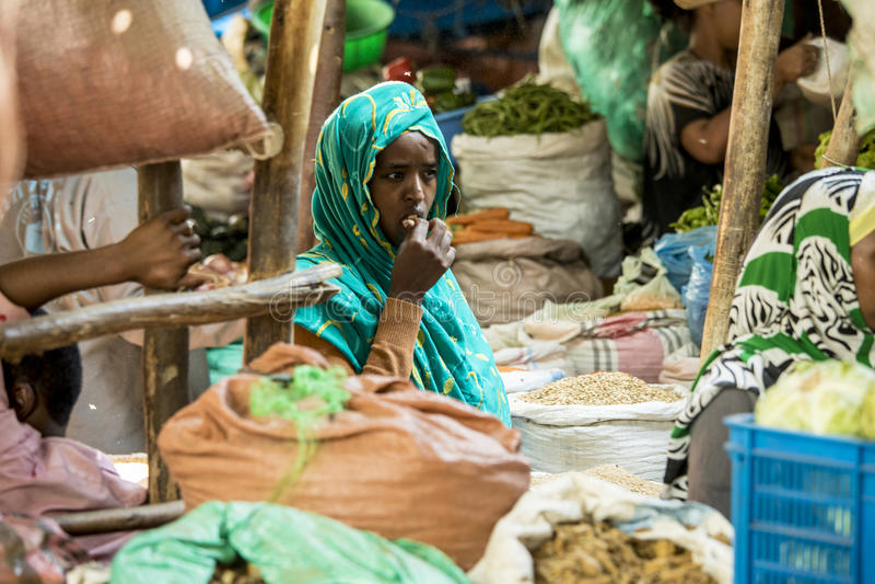 Kryddaköpman, Etiopien royaltyfri fotografi