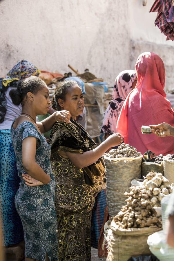 Kryddamarknad, Etiopien arkivbild