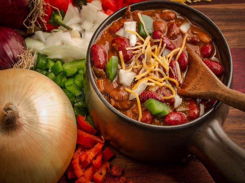 Kryddig bunke av chili arkivfoto