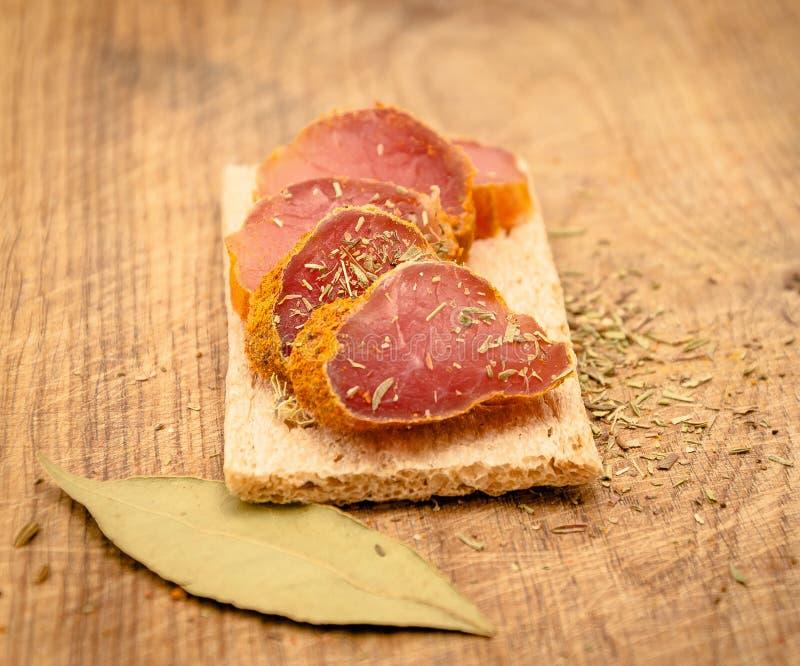 kryddig meat arkivbild