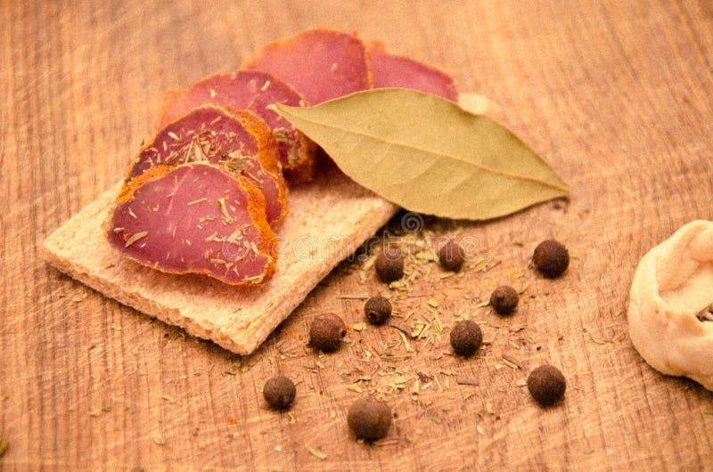 kryddig meat arkivbilder