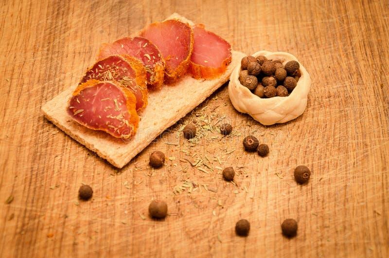 kryddig meat royaltyfri foto