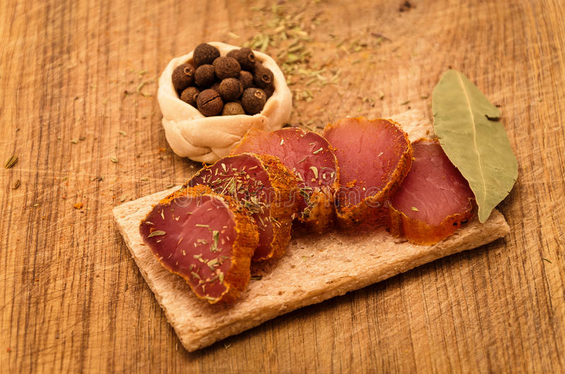 kryddig meat royaltyfri bild