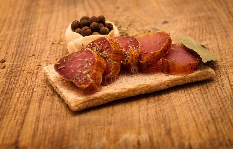 kryddig meat royaltyfri fotografi