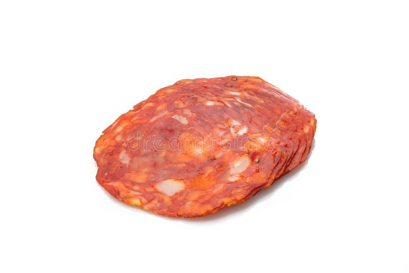 Kryddig röd ventricinasalamikorv royaltyfri bild