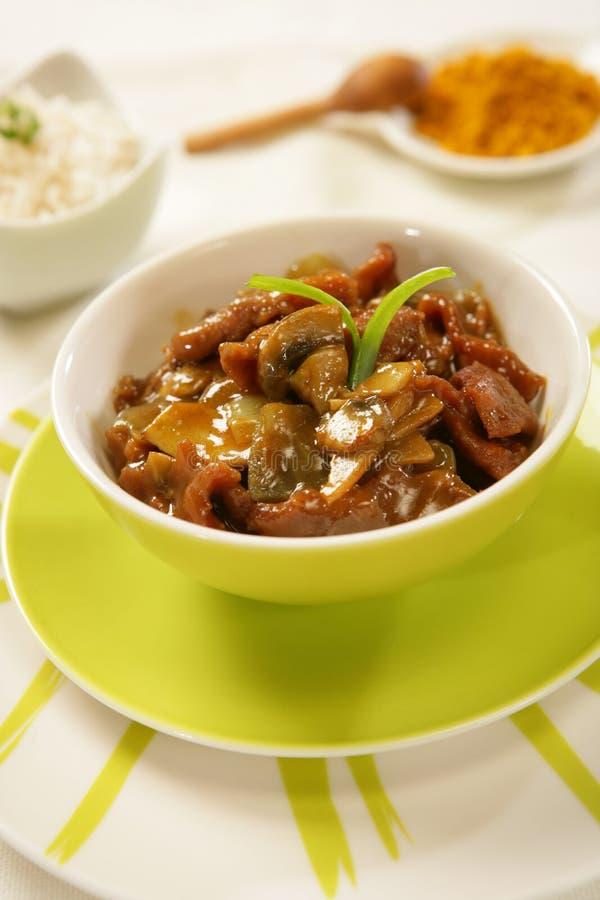 kryddig stew för nötkött arkivbilder
