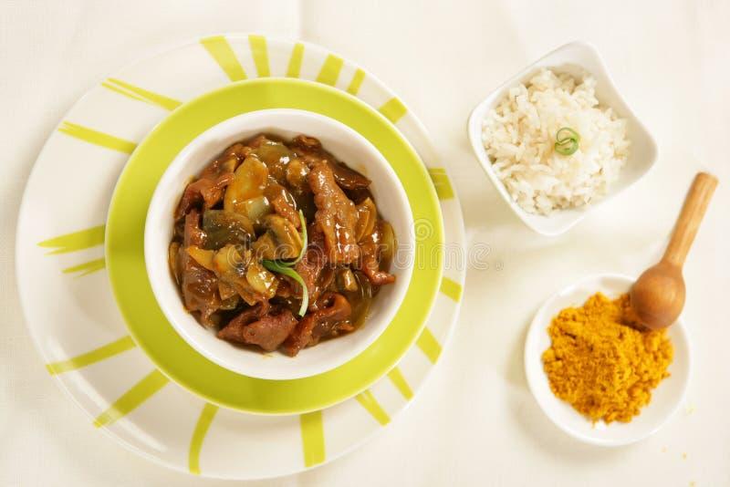kryddig stew för nötkött arkivfoto