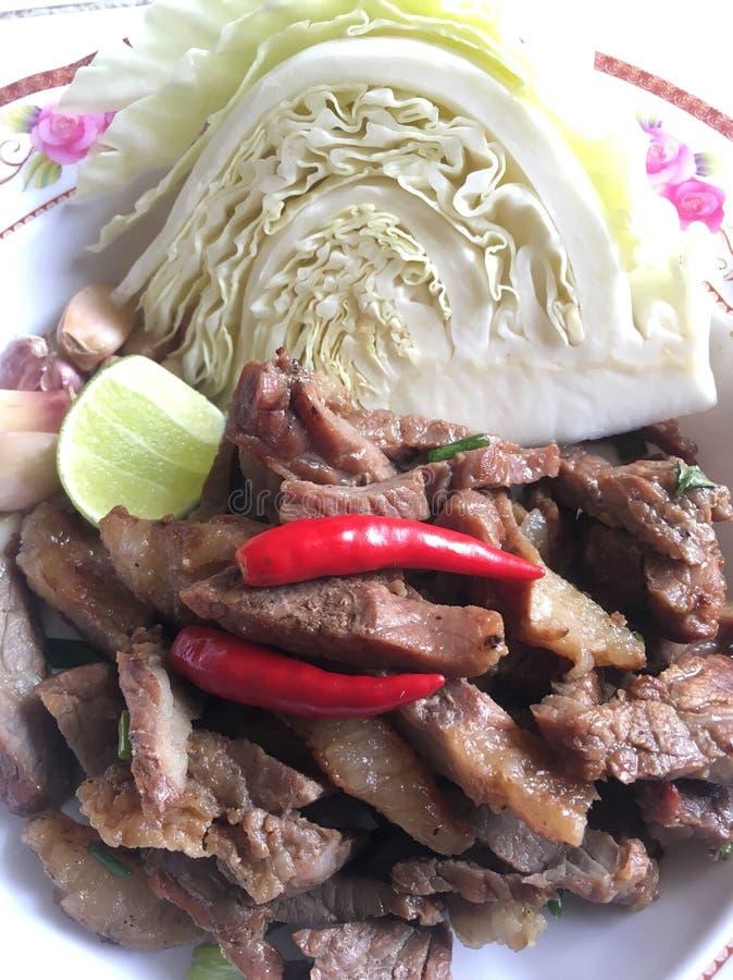 Kryddig thai mat för nötköttgaller arkivfoton