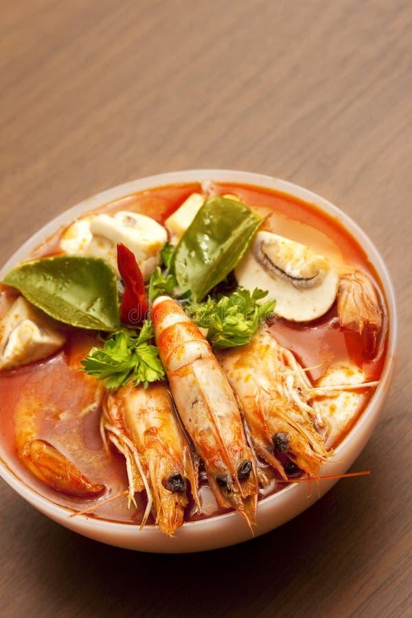 kryddig thai tom för räkasoup yum royaltyfri fotografi