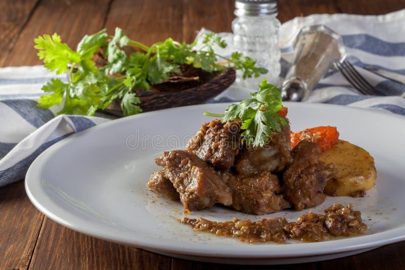 Kryddiga grisköttstöd royaltyfria foton