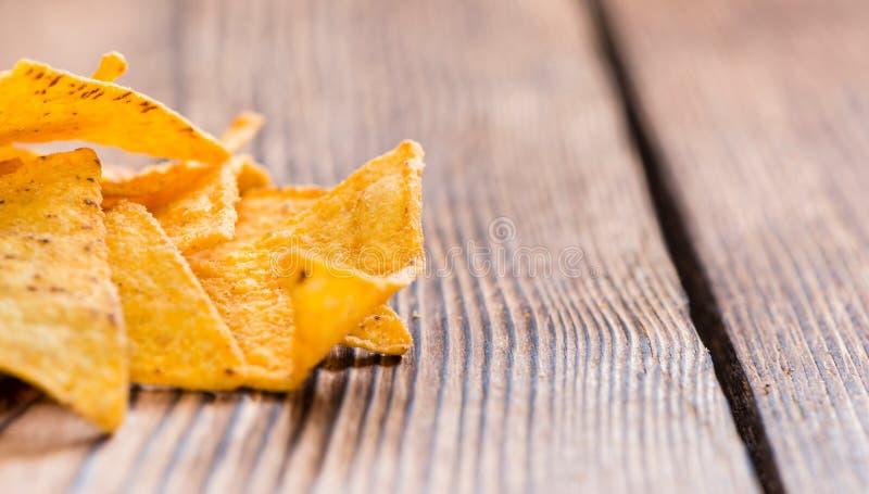 kryddiga nachos arkivfoton