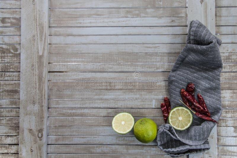 Kryddigt och citron- arkivbild