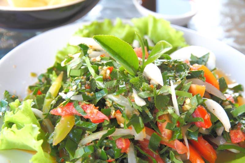 Kryddigt salladteblad arkivbild